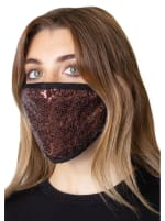 2 Pieces Sequin Face Mask Covering - 2