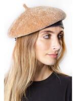 Adrienne Vittadini Fall Beret Hat - Camel - Back