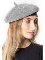 Adrienne Vittadini Fall Beret Hat - Grey - Back