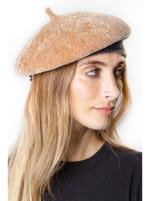 Adrienne Vittadini Fall Beret Hat - Camel - Front