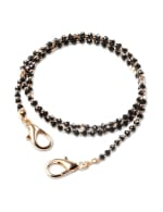 Black & Gold Beaded Mask Chain - Black/Gold - Front