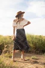 Bias Cut 4 Tier Elastic Waistband Skirt - 3