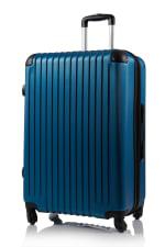 Champs 2-Piece Tourist Hardside Luggage Set - Blue - Back