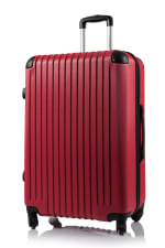 Champs 2-Piece Tourist Hardside Luggage Set - Red - Back