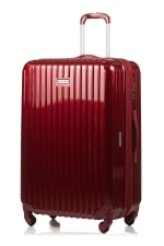 Champs 3-Piece Rome Hardside Luggage Set - Red - Back