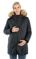 Modern Eternity - Lexi 3-in-1 Maternity Coat - Black - Front
