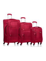 Champs 3-Piece Pacific Softside Luggage Set - Red - Front