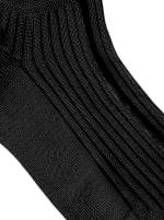 Solid Rib Socks - Black - Detail