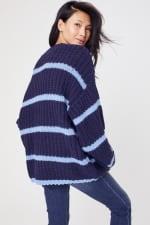 Westport Cozy Stripe Pullover Sweater - Navy - Back