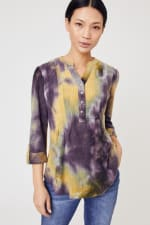 Waffle Tie Dye Pintuck Popover - Misses - 4