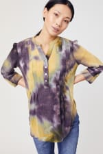 Waffle Tie Dye Pintuck Popover - Misses - 10