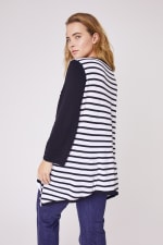 Roz & Ali Contrast Stripe Sweater - Plus - 7