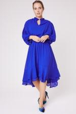 Karen Ruffle Hem  Hi Low Dress - Plus - 3