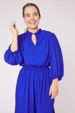 Karen Ruffle Hem  Hi Low Dress - Plus - 6