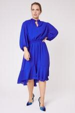 Karen Ruffle Hem  Hi Low Dress - Plus - 4