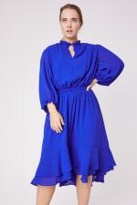 Karen Ruffle Hem  Hi Low Dress - Plus - 5