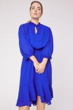Karen Ruffle Hem  Hi Low Dress - Plus - 7