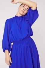 Karen Ruffle Hem  Hi Low Dress - Plus - 8