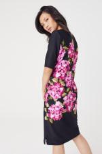 Scuba Floral Sheath Midi Dress - 2