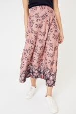 Roz & Ali Hacci Aline Border Print Maxi Skirt - 4