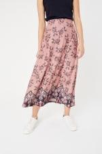 Roz & Ali Hacci Aline Border Print Maxi Skirt - 6