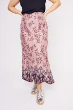 Roz & Ali  Hacci Aline Border Print Maxi Skirt - Plus - 3