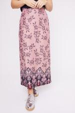 Roz & Ali  Hacci Aline Border Print Maxi Skirt - Plus - 5