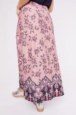 Roz & Ali  Hacci Aline Border Print Maxi Skirt - Plus - 7