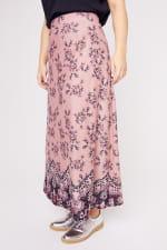 Roz & Ali  Hacci Aline Border Print Maxi Skirt - Plus - 6