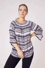"""Westport  """"On And Off The Shoulder Top"""" - Plus - 3"""