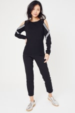 Sporty Cold Shoulder Sweater - 5