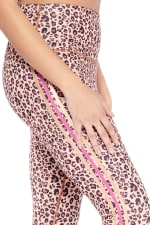 Freedom Cheetah Legging - Brown - Detail