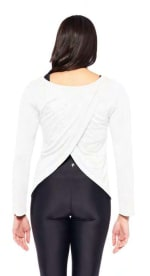 Mind Over Matter Long Sleeve Top - White - Back