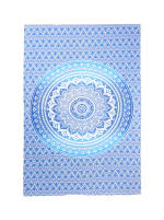 White Blue Twin Tapestry - 1