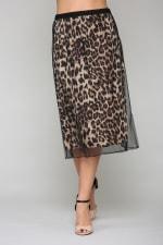 Winnie Animal Print Skirt - 1