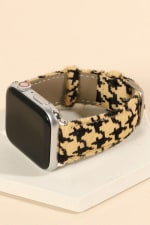 Houndstooth Print Calf leather iWatch Band - 4