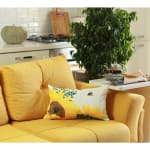 """Set of 2 20"""" Sunflower Bee Lumbar Pillow Cover in Multicolor - 2"""