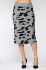 Samara Skirt - Black / Gray - Front