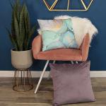 Rose Mauve Textured Velvet Square Pillow - 2