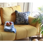 """Set of 2 17"""" Jacquard Forest Sky Throw Pillow Cover in Blue - 4"""