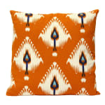 Orange Ikat Design Square Pillow - 2