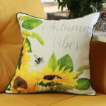 """Set of 4 18"""" Autumn Vibes Throw Pillow Cover in Multicolor - 2"""