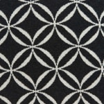 Geometric Design Black and White Cotton Pillow Cover - 1
