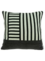 Modern White and Black Accent Pillow Cover - White - Back