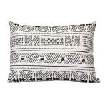 Black And White Tribal Design Rectangular Lumbar Pillow - 1