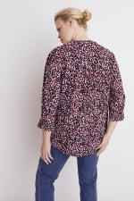 Roz & Ali Multi Color Dot Pintuck Popover - Plus - Multi - Back