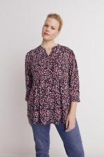 Roz & Ali Multi Color Dot Pintuck Popover - Plus - Multi - Front