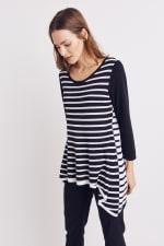 Roz & Ali Contrast Stripe Sweater - 4