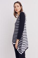 Roz & Ali Contrast Stripe Sweater - 5