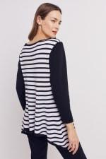 Roz & Ali Contrast Stripe Sweater - 7